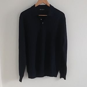 Corneliani Virgin Wool Collared Sweater 3 Button